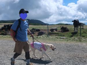 美ヶ原高原牧場内を歩く